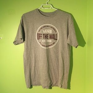 3 For $40 Vans Off The Wall Grey T-Shirt